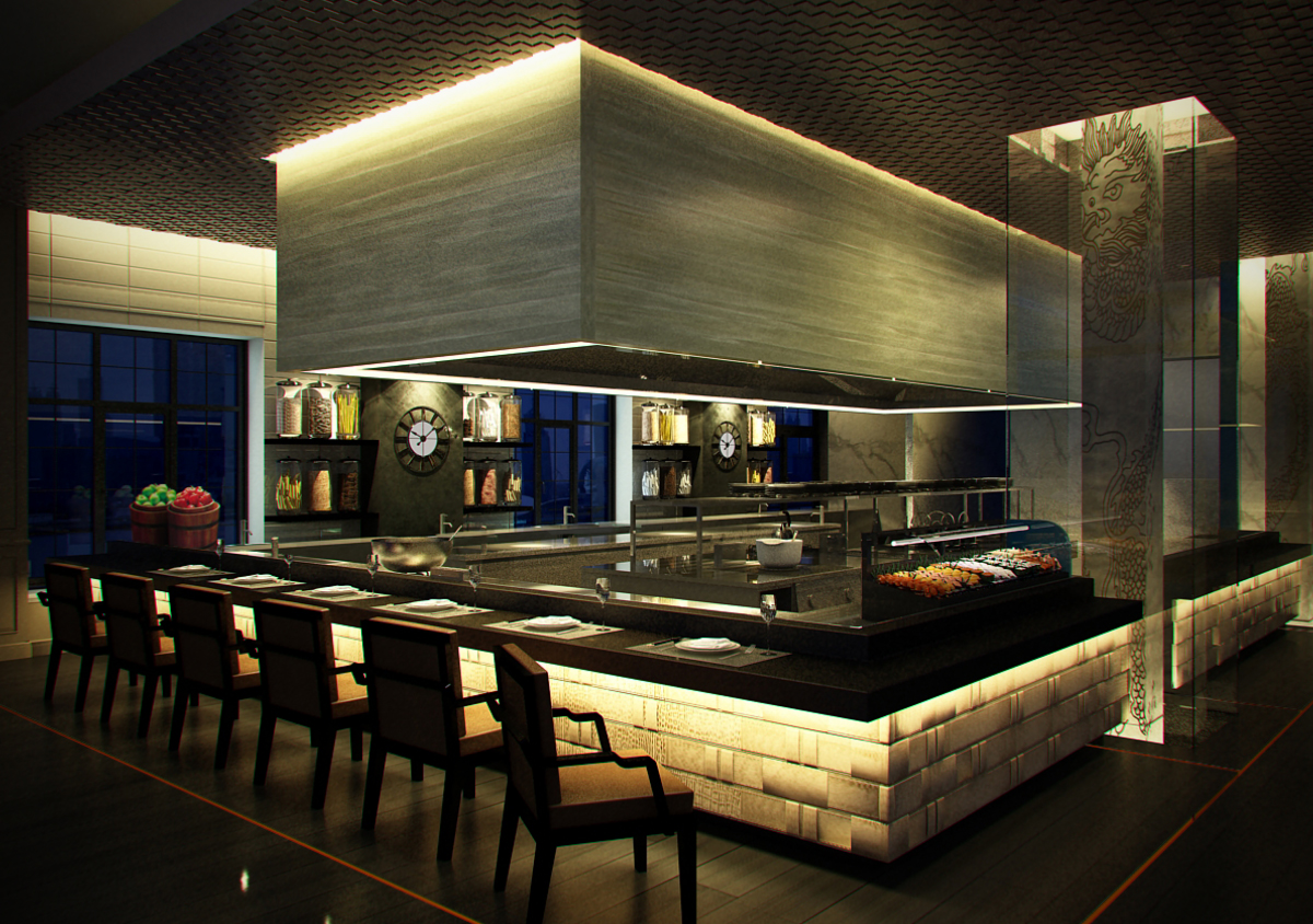 News release shook bund palate modern kitchen hotel kitchen design modern restaurant bar open - Show picture of kitchen ...